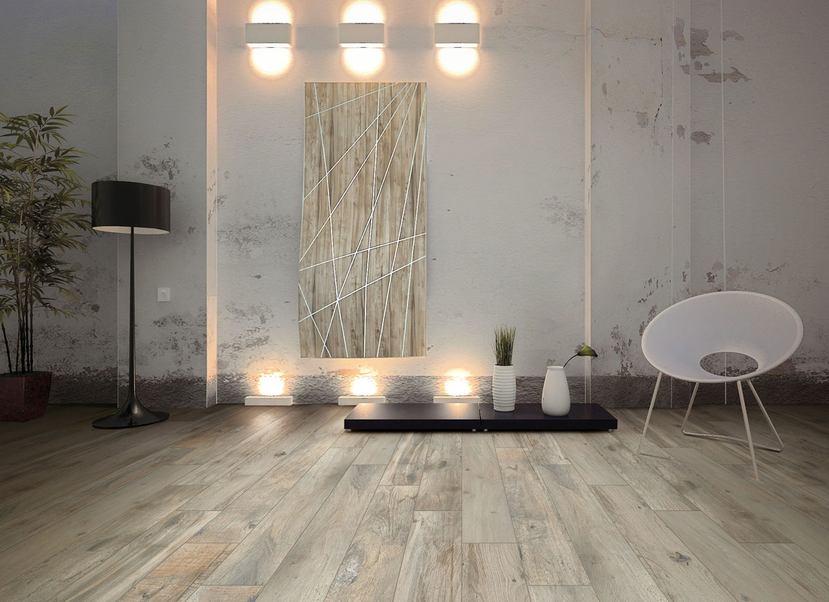 Porcelain Tile: Memory Wood (color: Tortora)