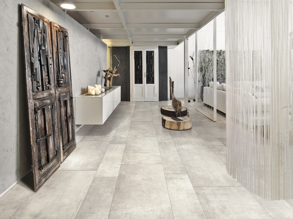 Porcelain Tile: Plant (color: Powder)